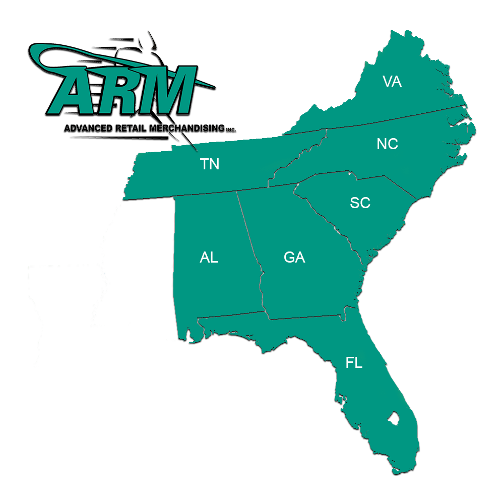 ARM Retail Regional Coverage Map
